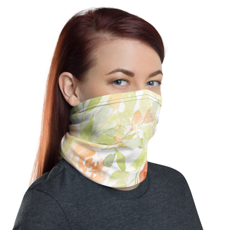 Gaiter Face Mask Decadent Floral