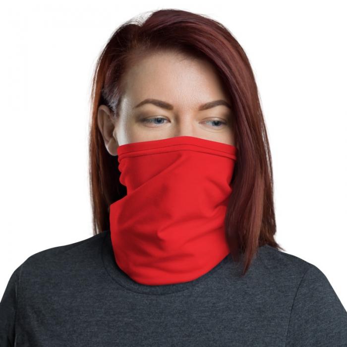 Scarlet Flame Red Gaiter Face Mask