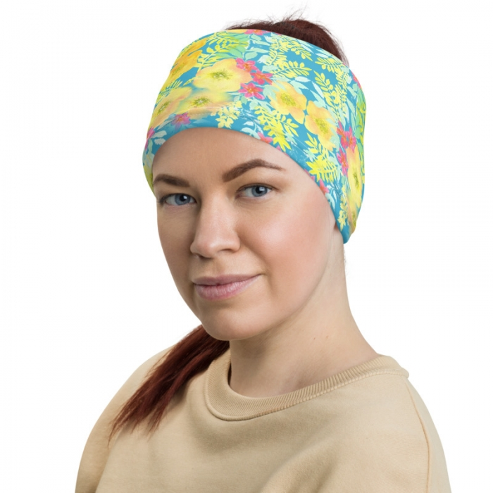 MJ Floral Gaiter Headband