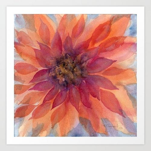 Darling Dahlia Watercolor