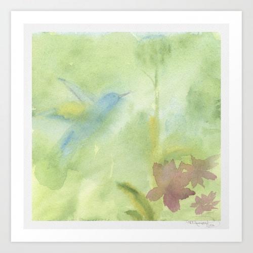Hummingbird Selah Watercolor